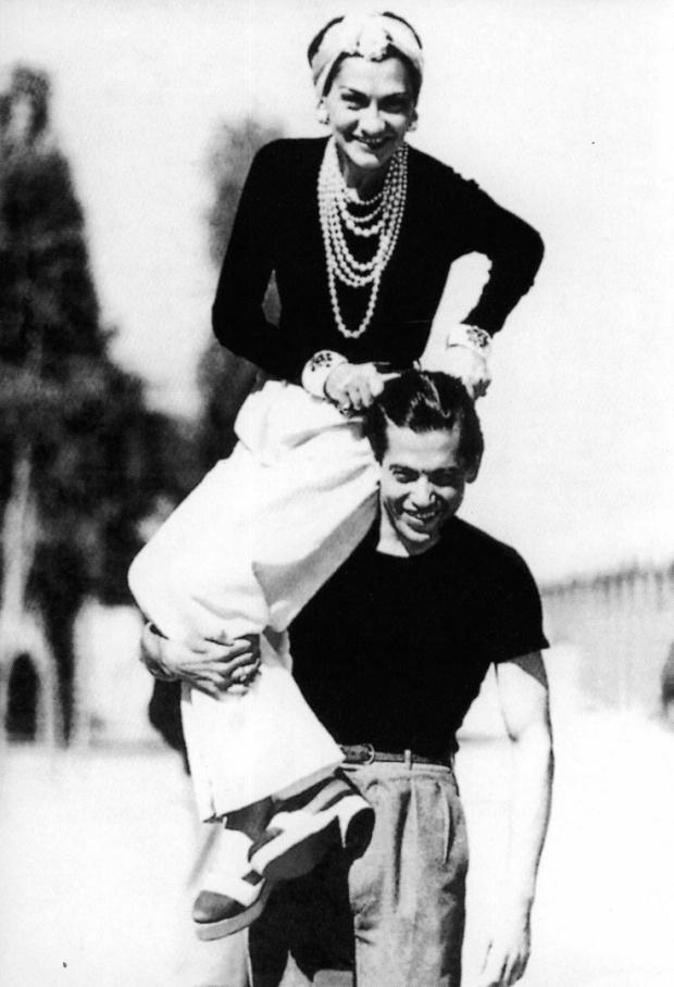Coco Chanel y el bailarín y coreógrafo Serge Lifar, 1937.